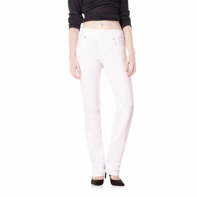Bluberry women's Ella white straight leg denim