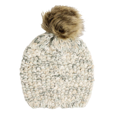 Fits Textured Knit Toque with Pom