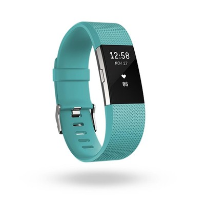 Fitbit Charge 2 Teal Silver Large (123321313)