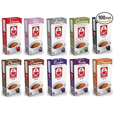 100 Nespresso Compatible Coffee Capsules- variety pack
