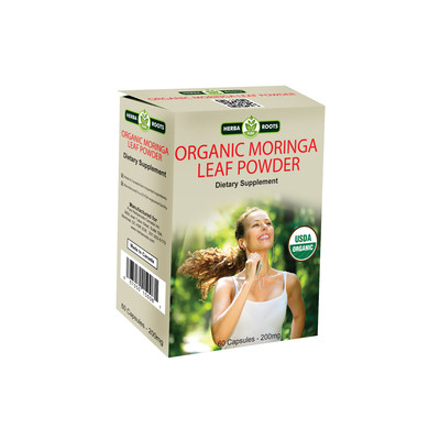 Organic Moringa Leaf Powder Capsules