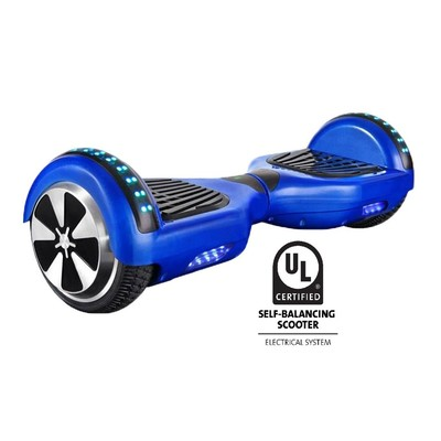 Gyrocopters Pro UL2272 certified Certified (Blue) with Bluetooth Speaker - Hoverboard or Self balance board