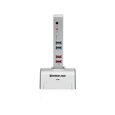 IOGear met(AL)™ Vault Dock, USB 3.0 Docking Station with built-in Backup Drive Enclosure (GUD310)
