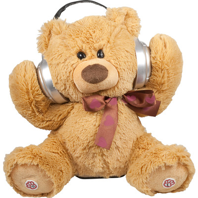 Adorable Dancing Ginger Teddy Bear Portable Plush Bluetooth Communication Speaker (779535021834)