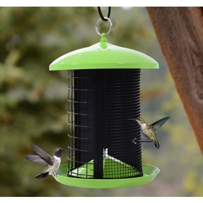 PawHut 3 Different Seed Parts in 1 Hanging Bird Feeder Garden Outdoor Wild Squirrel Proof Seed Feeder Pet Supplies
