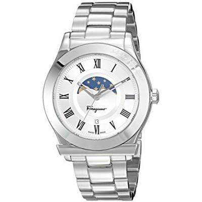 Salvatore Ferragamo Men's 'FERAGAMO 1898' Quartz Stainless Steel Casual Watch, Color:Silver-Toned (Model: FBG040016)
