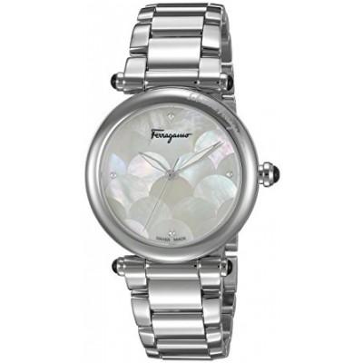 Salvatore Ferragamo Women's 'IDILLIO' Quartz Stainless Steel Casual Watch, Color:Silver-Toned (Model: FCH040016)
