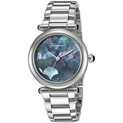 Salvatore Ferragamo Women's 'IDILLIO' Quartz Stainless Steel Casual Watch, Color:Silver-Toned (Model: FCH050016)