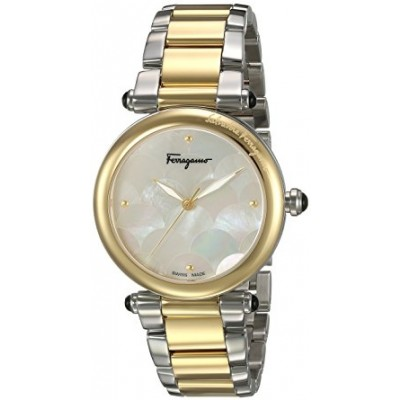 Salvatore Ferragamo Women's 'IDILLIO' Quartz Stainless Steel Casual Watch, Color:Two Tone (Model: FCH060016)