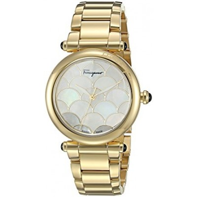 Salvatore Ferragamo Women's 'IDILLIO' Quartz Stainless Steel Casual Watch, Color:Gold-Toned (Model: FCH070016)