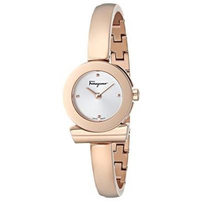 Salvatore Ferragamo Women's FQ5050014 Gancino Rose Gold-Tone Bracelet Watch