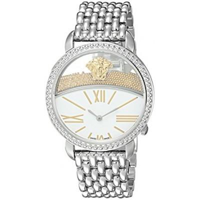 Versace Women's 'KRIOS' Swiss Quartz Stainless Steel Casual Watch, Color:Silver-Toned (Model: VAS090016)