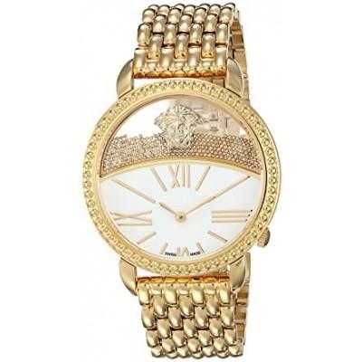 Versace Women's 'KRIOS' Swiss Quartz Stainless Steel Casual Watch, Color:Gold-Toned (Model: VAS100016)