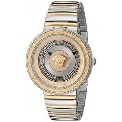 Versace Women's VLC080014 V-METAL ICON Analog Display Swiss Quartz Two Tone Watch