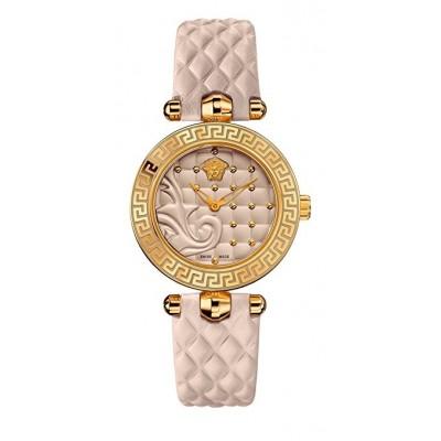 Versace Women's VQM040015 Vanitas Micro Analog Display Swiss Quartz Beige Watch