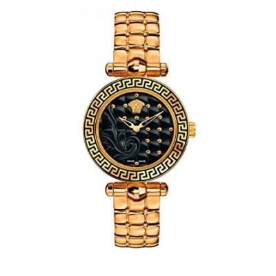 Versace Women's VQM050015 Vanitas Micro Analog Display Swiss Quartz Gold Watch