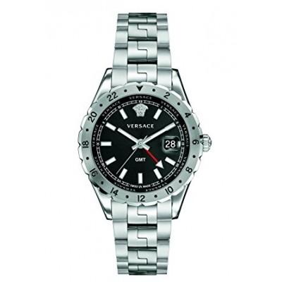 Versace Men's 'HELLENYIUM GMT' Swiss Quartz Stainless Steel Casual Watch (Model: V11020015)