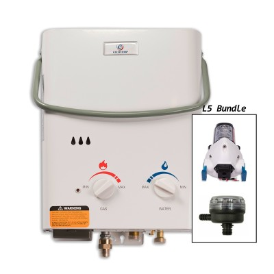 Eccotemp L5 Portable Outdoor Tankless Water Heater w/ Flojet Pump & Strainer