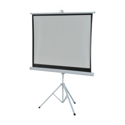 HomCom 4:3 Portable Folding Projection Screen Adjustable Easy Pull-up Home Cinema with Tripod Stand (84) (001-007)
