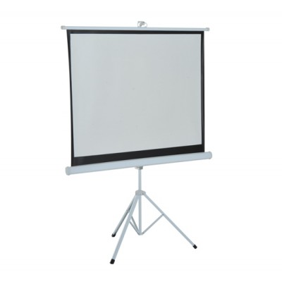 HomCom 4:3 Portable Folding Projection Screen Adjustable Easy Pull-up Home Cinema with Tripod Stand (100) (001-008)