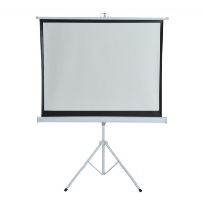 HomCom 4:3 Portable Folding Projection Screen Adjustable Easy Pull-up Home Cinema with Tripod Stand (120) (001-009)