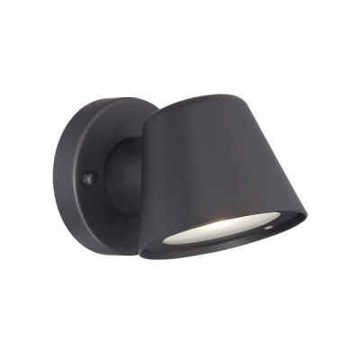 Outdoor 1-Light LED Cast Aluminum Wall Sconce