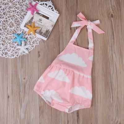 Vintage Style Pastel Pink Cloud Romper