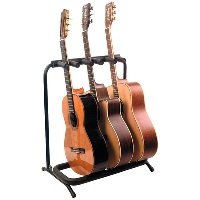 Stand Guitar RockStand for 3 Acoustic/Classical - Black