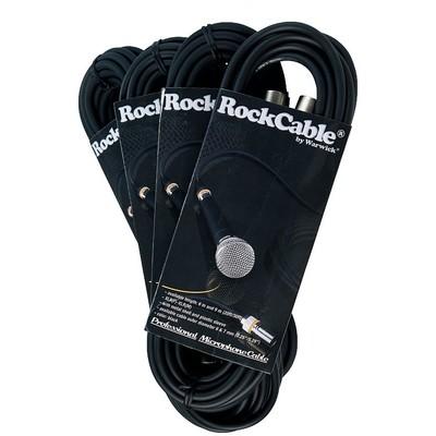 Cable Microphone RockCable XLR(F)-XLR(M) 6m/20' w/Clr Rings-