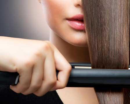Woman fashioning her hair